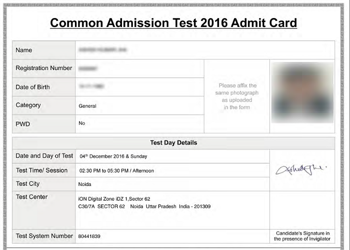 What To Carry With Cat 2016 Admit Card Competitive Exam