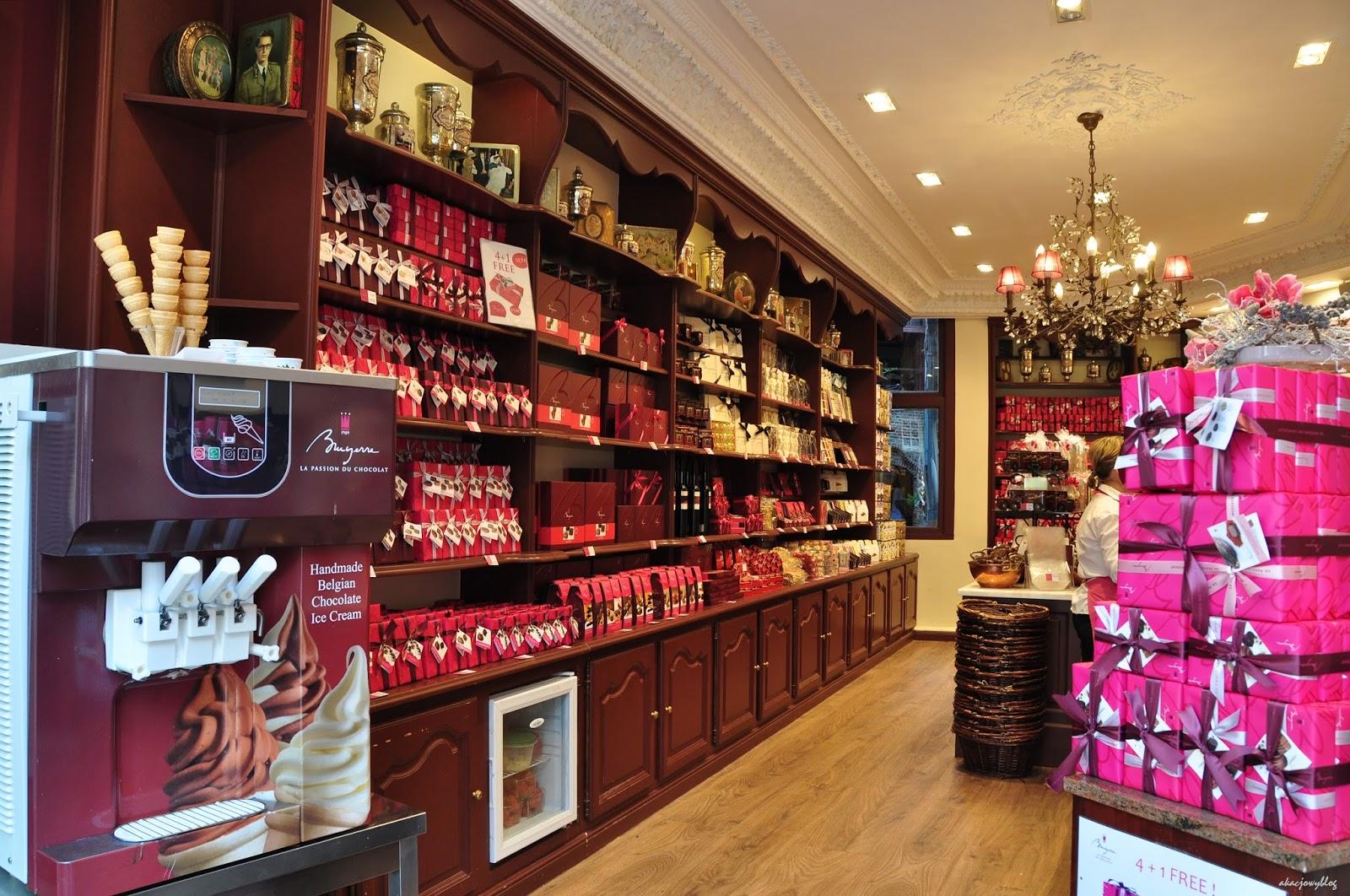 Muzeum czekolady w Brugii.