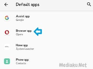 Mengganti Default Browser Di HP Realme