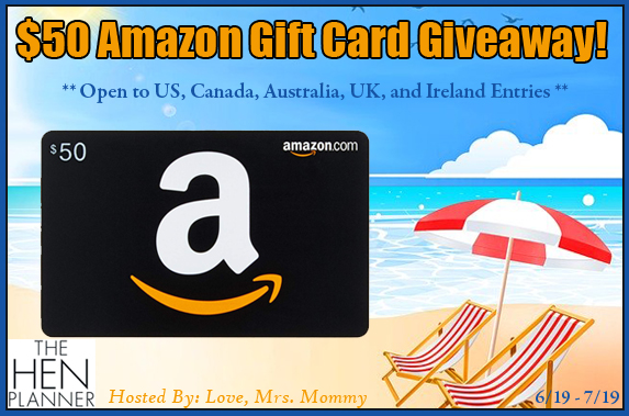 The Hen Planner $50 Amazon Gift Card Giveaway