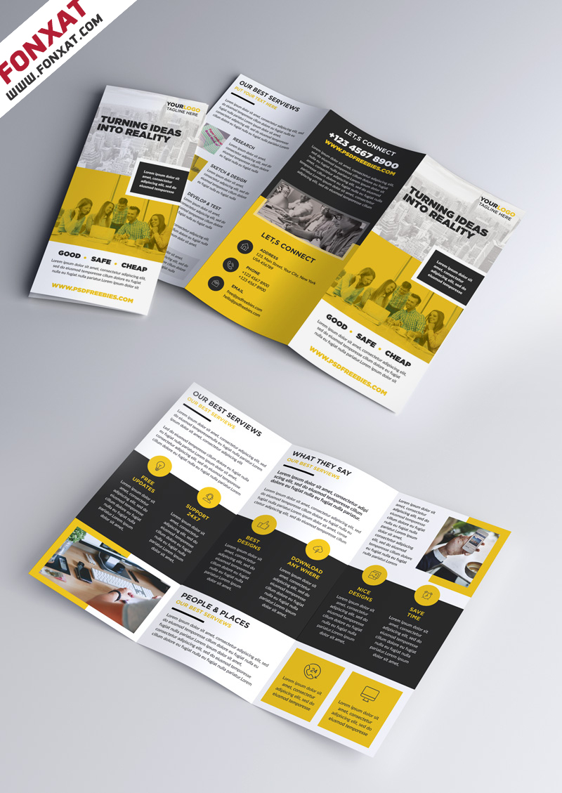 Multipurpose-Tri-fold-Brochure-PSD-Template