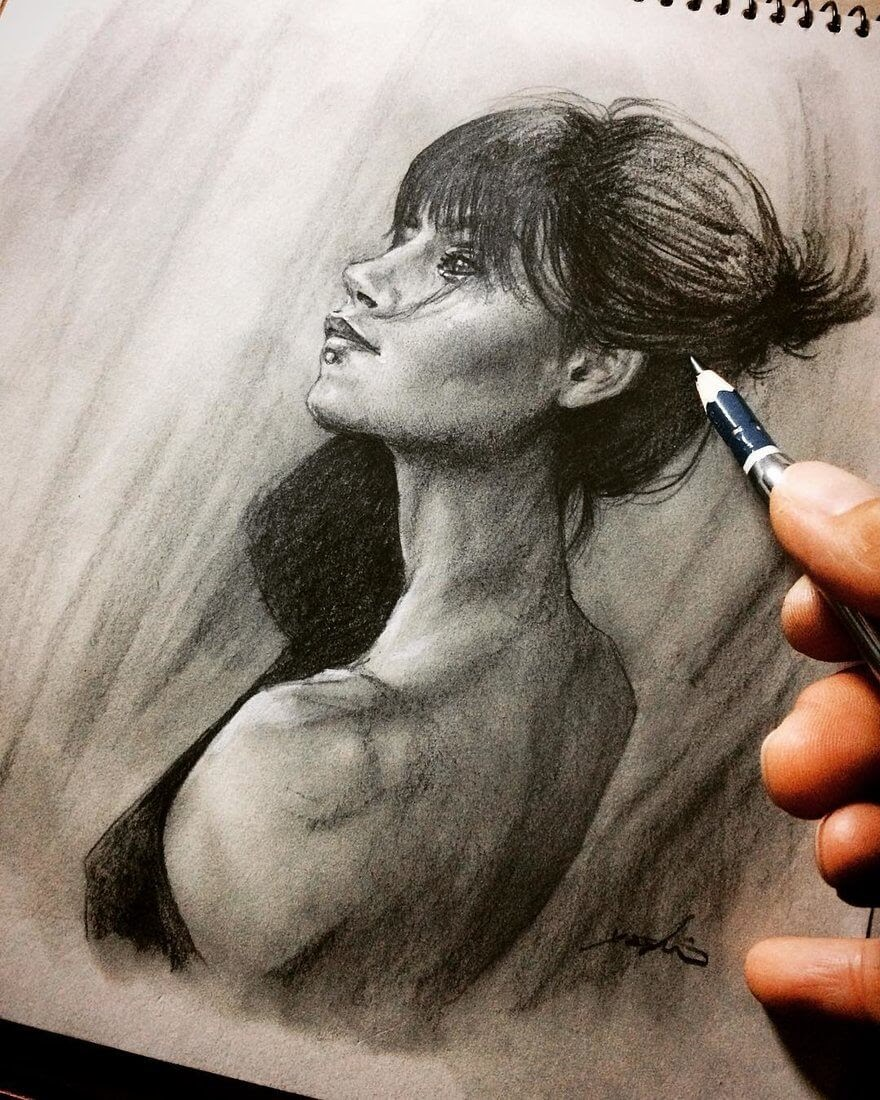 10-@maria.krugovaya-Yoshi-Portrait-Drawings-of-People-on-Instagram-www-designstack-co