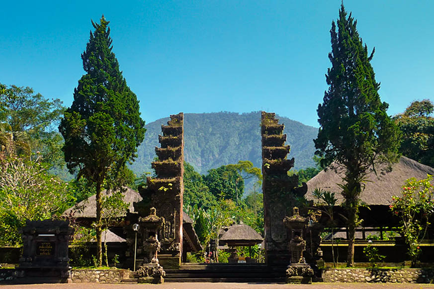 is a Hindu temple which is laid precisely correct on the slopes of  DestinationsinBali; Batukaru Temple - Bali, Republic of Indonesia Tourist Attraction