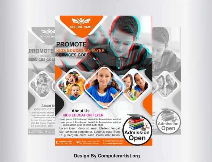 School Pamphlet Design Free Download Psd And Cdr File School