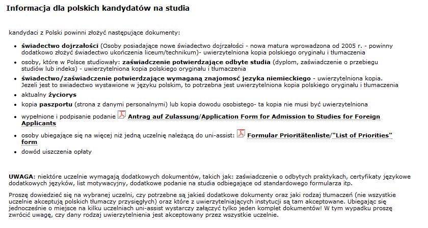 S Jak Studia Blog Jaśminowy Studia W Niemczech Procedura