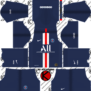 Paris Saint-Germain (PSG) 2019/2020 Kit - Dream League Soccer Kits