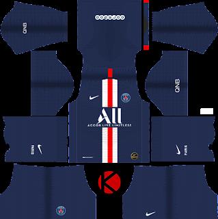 Paris Saint-Germain (PSG) 2019/2020 Kit - Dream League Soccer Kits