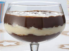 chocolate trifle with coconut