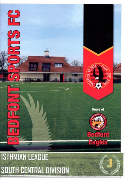Bedfont Sports FC 2019/20 season programme