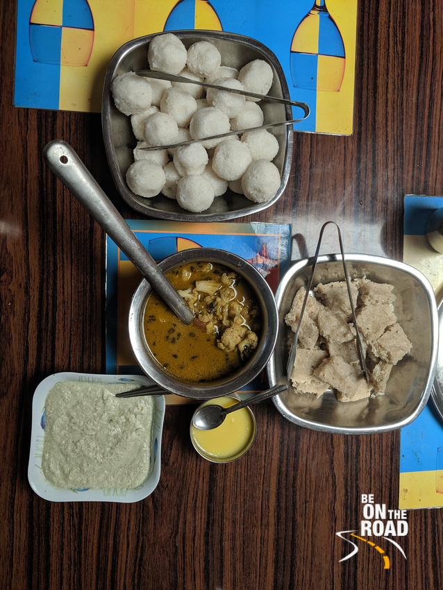 Kadubu, Halasahannu Hittu, Ghee, Coconut Chutney and Gojju - Traditional Malnad Breakfast