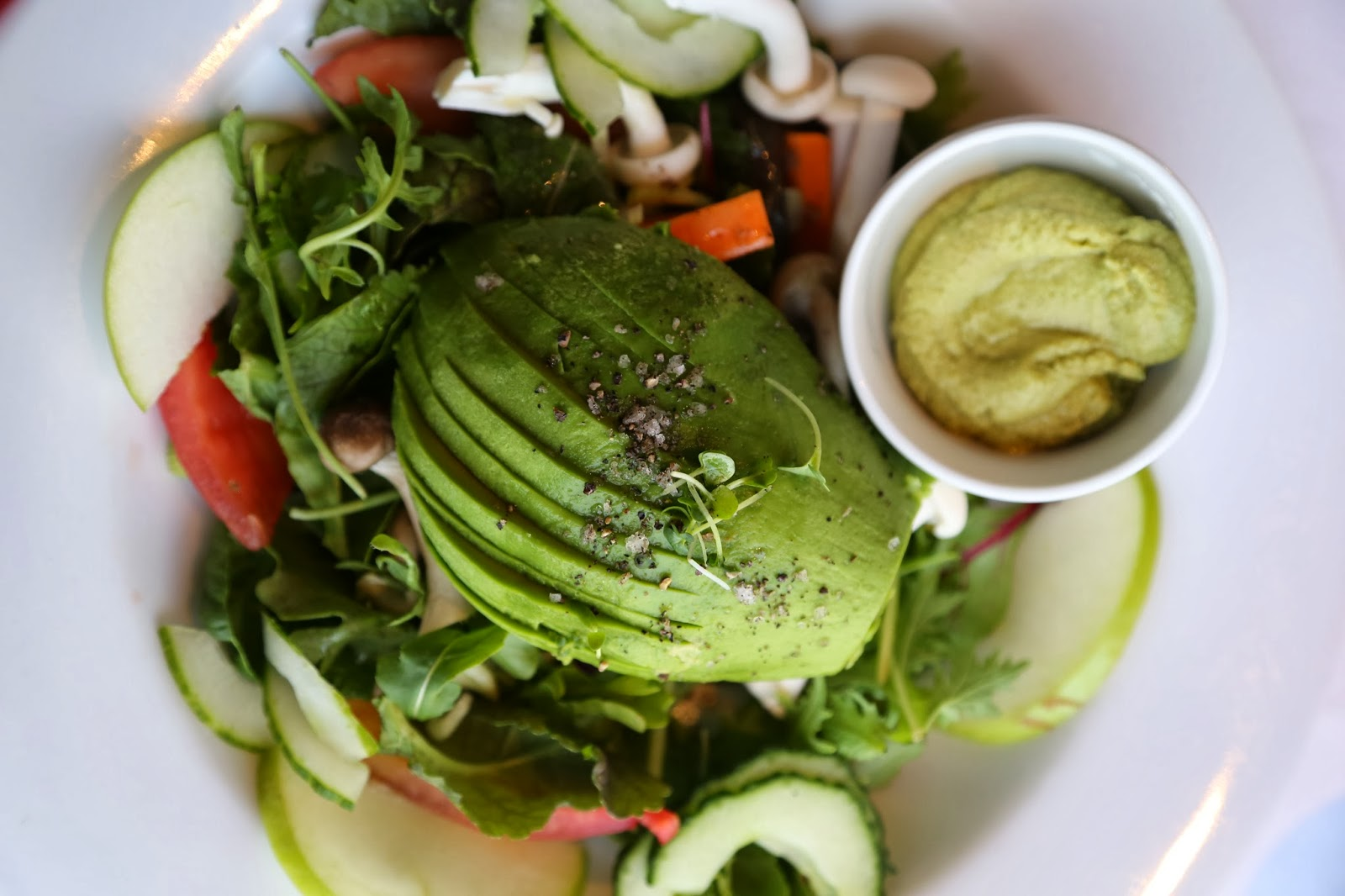 Green Goddess dressing with avocado salad at the 12 Apostles hotel
