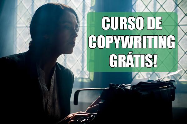 curso de copywriting grátis - mulher digitando em uma máquina de escrever