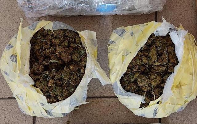 Σύλληψη 20χρονου στην Καλαμάτα με 2 κιλά κάνναβη