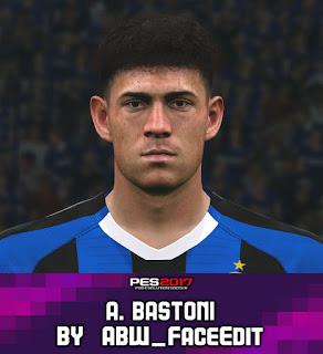 PES 2017 Faces Alessandro Bastoni by ABW