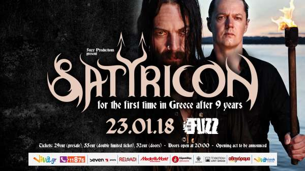 SATYRICON: Επιστρέφουν στην Αθήνα! Τρίτη 23 Ιανουαρίου @ Fuzz