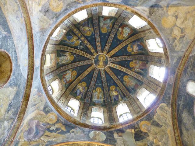 La Virgen con el Niño, cúpula norte del esonártex de San Salvador de Cora - Estambul por El Guisante Verde Project