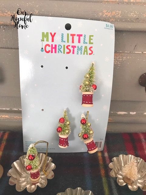 Hobby Lobby My Little Christmas mini spool bottle brush tree