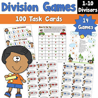 Division Games with Task Cards