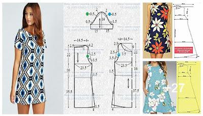 Medidas y patrones de costura de vestidos femeninos