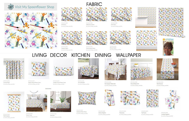 Visit Annie Lang's Spoonflower Shop to buy fabric prints, wallpaper, home decor and more!
