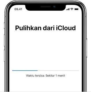 Proses Restore data iphone di icloud