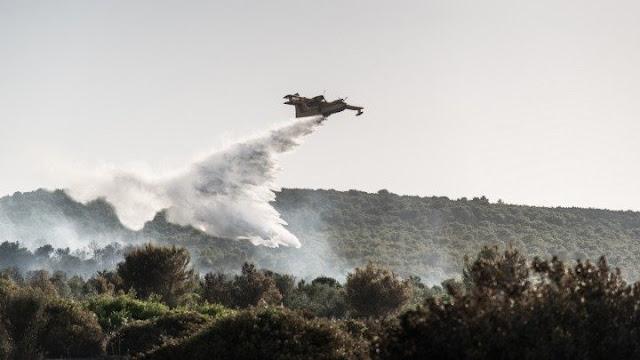 Αργολίδα: 3 αεροσκάφη και 2 ελικόπτερα για την κατάσβεση της πυρκαγιάς στην Κάντια Ναυπλίου