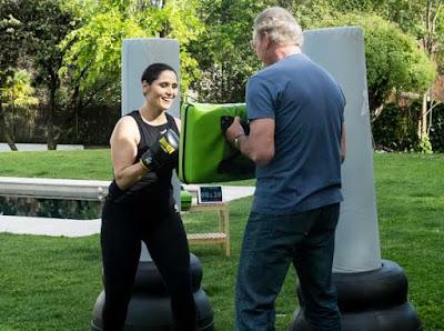 Rosa Lopez hace fit boxing con bertin osborne