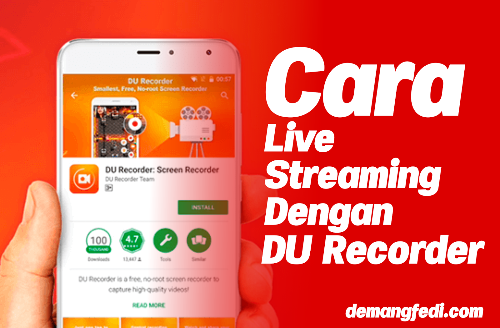 Cara Live Streaming Facebook Dengan DU Recorder
