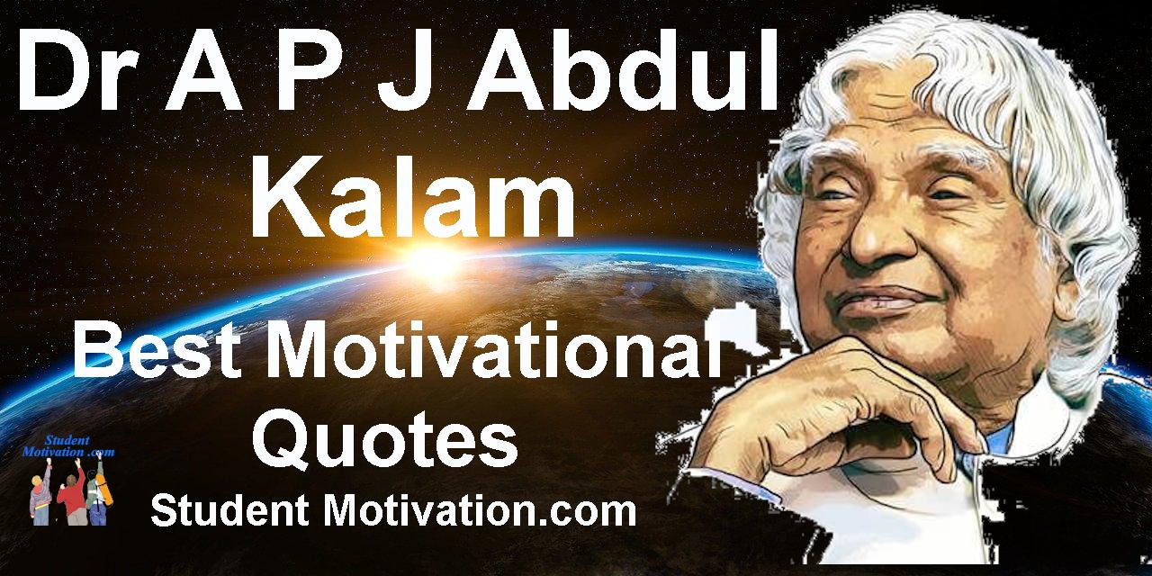 Dr A P J Abdul Kalam Quotes - Diksha- Student Motivation.com
