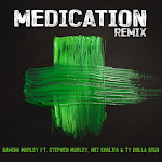 "Damian ""Jr. Gong"" Marley - Medication (Remix) [feat. Stephen Marley, Wiz Khalifa & Ty Dolla $ign] - Single  Cover"