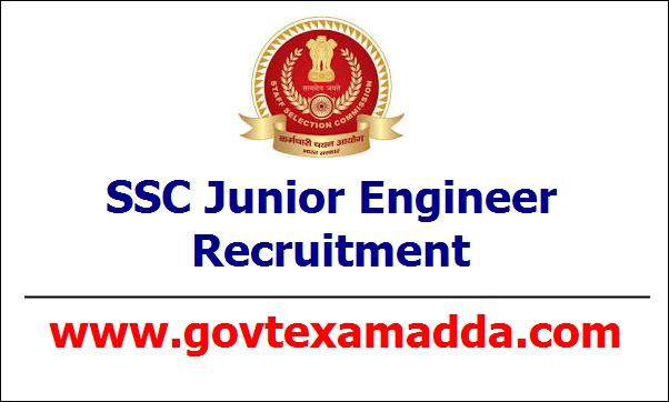 SSC Junior Engineer Recruitment 2020 - SSC JE Apply Online, SSC JE Notification