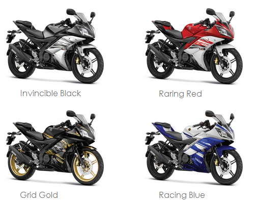 yamaha yzf r15 ver2 0 gets 4 new colours graphics new prices