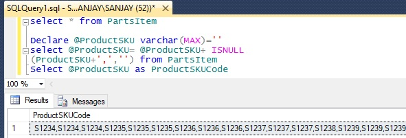 display data vertically in sql