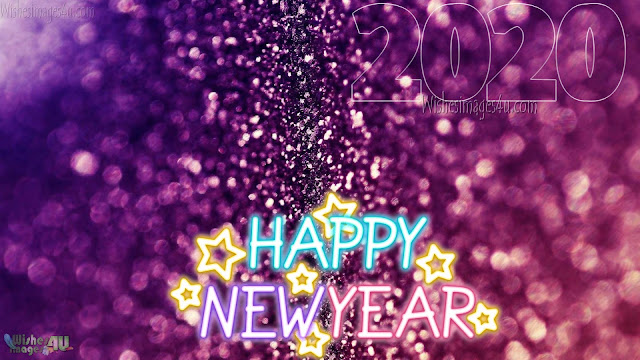 New Year 2020 HD Sparkling Background Wallpapers Download Free