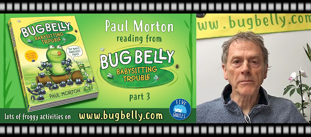 Image showing author illustrator Paul Morton reading from his new book for children aged 5 to 8
