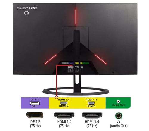 Sceptre E248W-QPT IPS QHD LED Business Monitor