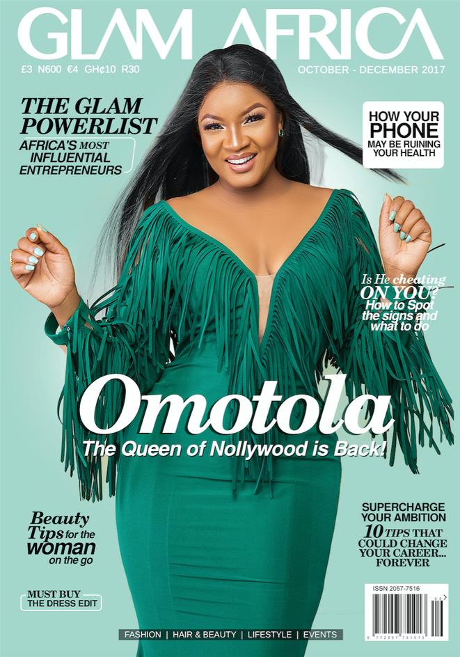 Omotola Jalade Ekeinde Dazzles On The Cover Of Glam Africa Magazine