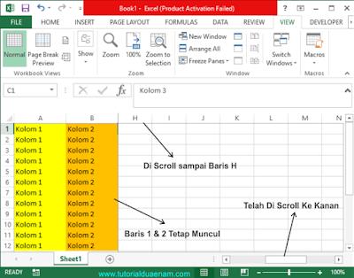 Membuat Judul Tabel Excel Tidak Bergerak Saat Di Scroll Dengan Fitur Frezee