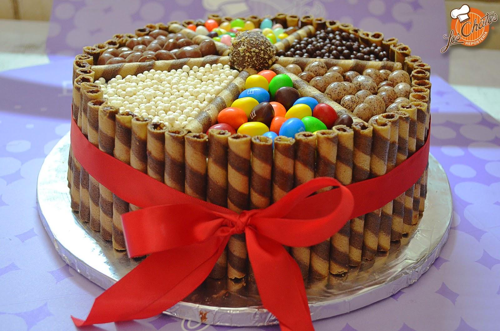 Imágenes Pasteles Bonitos Para Cumpleaños: Pasteles Deliciosos, Decorados Con Dulces Y Que Se Ven Tan