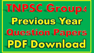 TNPSC Group 4 Previous Year Papers PDF free Download