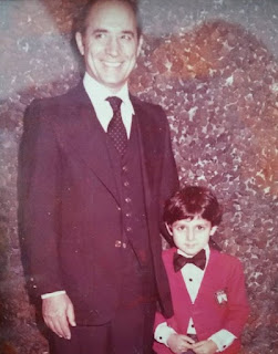 John Farmanesh-Bocca's childhood picture with his father