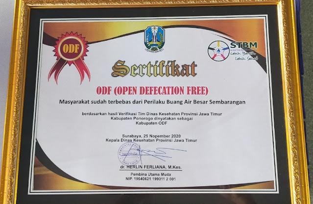 Program Jambanisasi yang dilakukan Ipong - Djarno bawa Ponorogo bebas BAB Sembarangan
