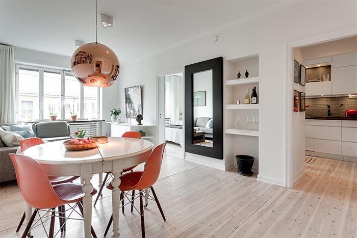 Hogar diez estilo n rdico en 45 m2 - Salon comedor estilo nordico ...