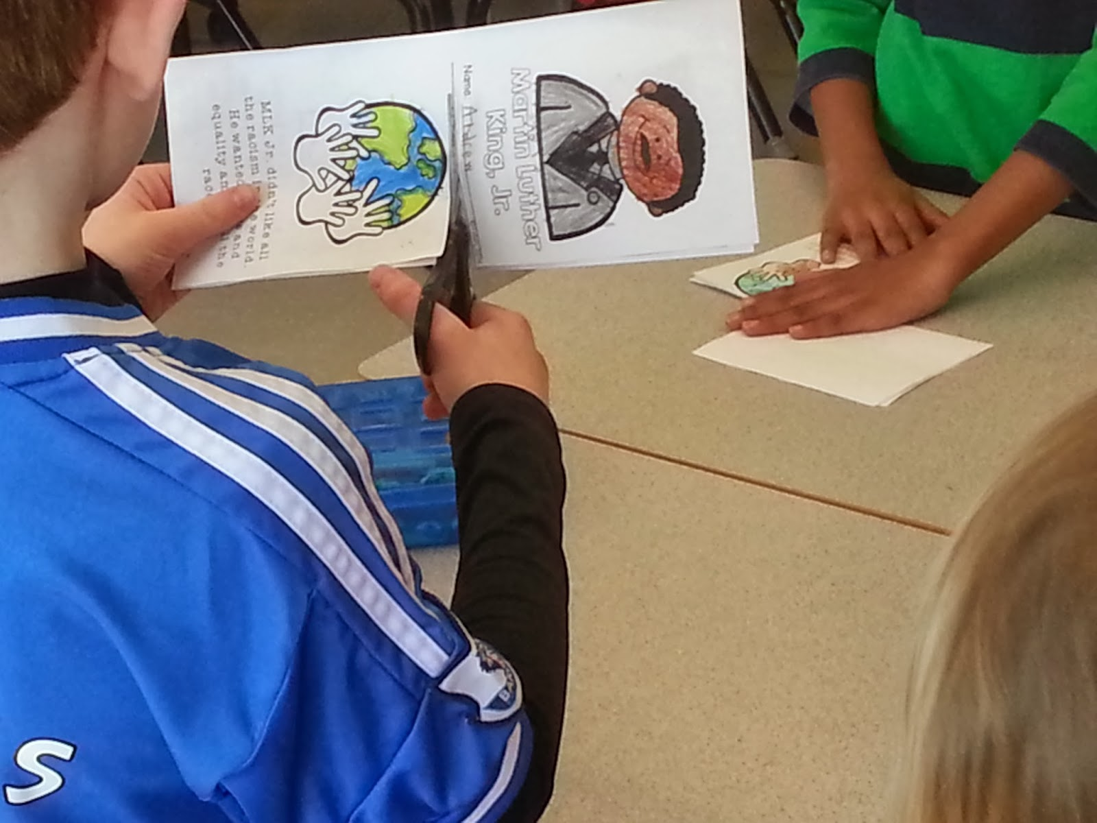 Martin Luther King Jr. ELA Activities in primary classroom
