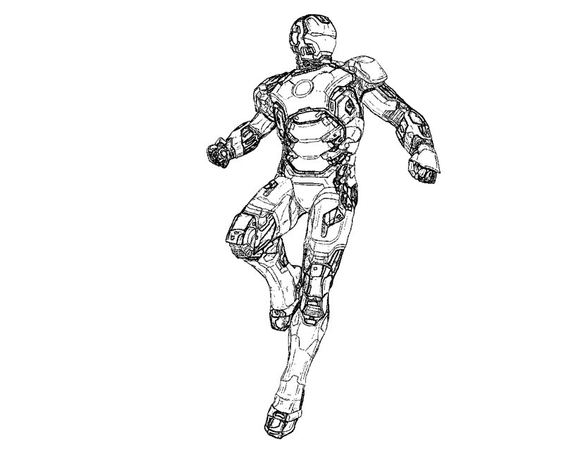 Famous Iron Man 3 Coloring Pages Mark 42 Pictures ...
