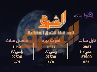 تحديثات تردد قناة الشرق الفضائية 2019
