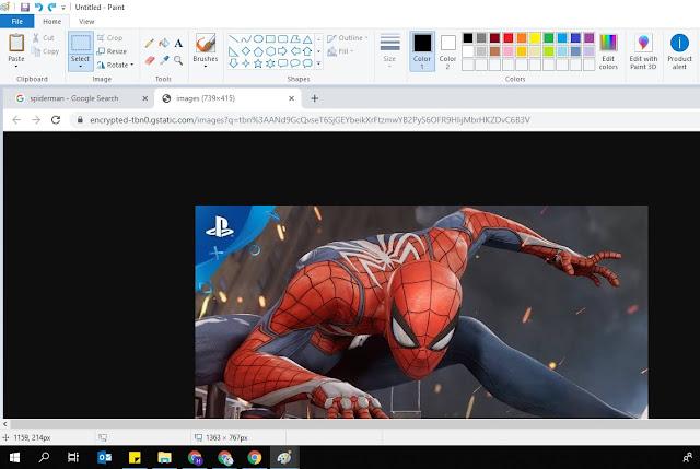 contoh hasil screenshot di laptop