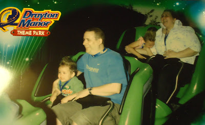 The ride photo taken on the new Drayton Manor Ben 10 Ultimate Mission Ride