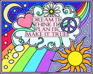 """Dream it. Think it. Plan it. Make it true."" coloring page, available in png and jpg format"