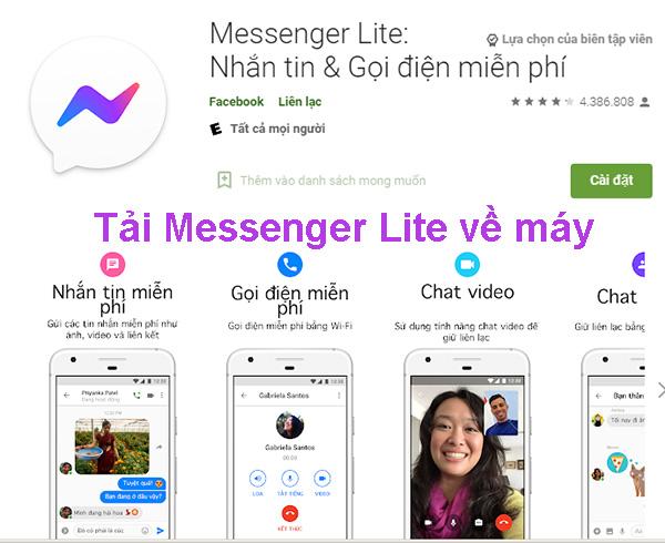 Tải Messenger Lite Apk cho máy Android, iPhone, PC cấu hình yếu d